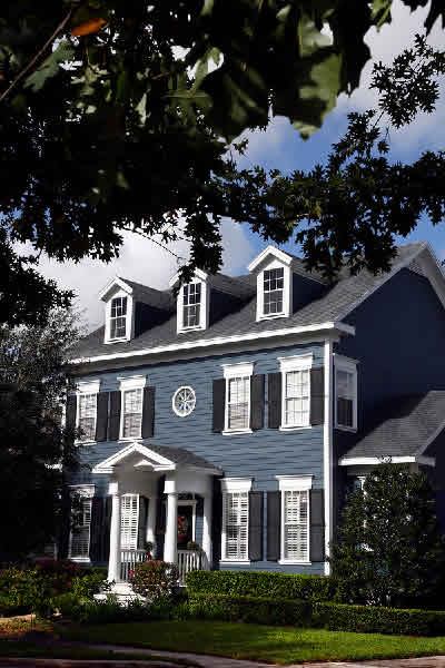 Best exterior colors for colonial homes joy studio for Modern colonial home exterior