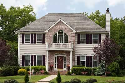 suburban house color